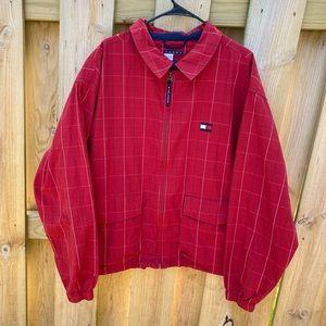 VINTAGE TOMMY HILFIGER RED Plaid Jacket XXL